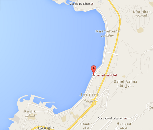 Lamedina Hotel Jounieh Lebanon Location and Directions